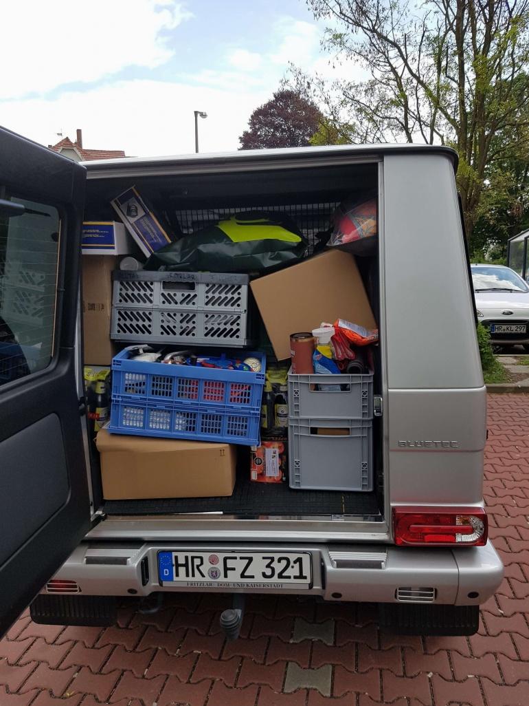 Kofferraum des Trucks