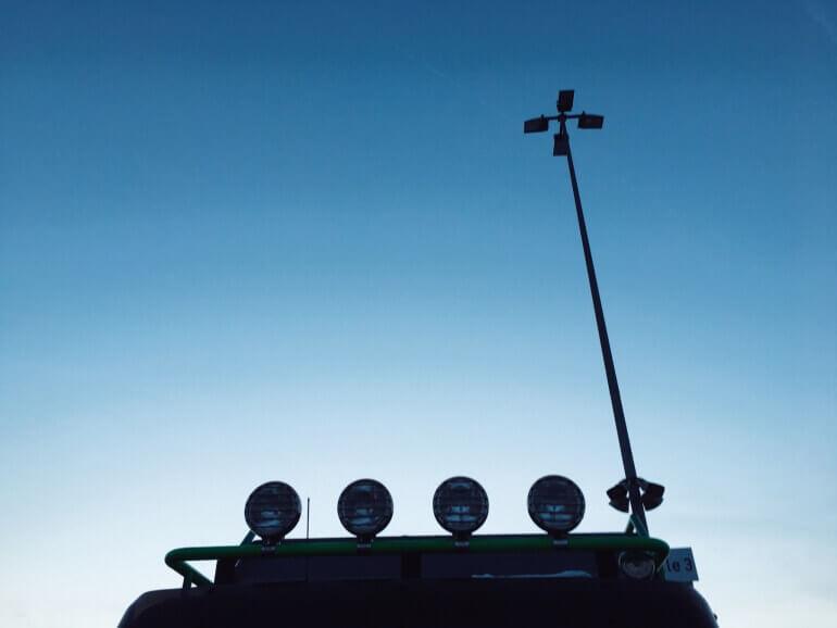 Dachlampen auf Truck